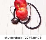medical stethoscope and red... | Shutterstock . vector #227438476