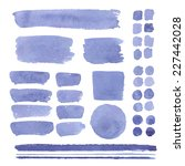 set of watercolor elements ... | Shutterstock .eps vector #227442028