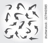 set of arrow icons | Shutterstock .eps vector #227443585