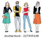 fashion people | Shutterstock .eps vector #227445148