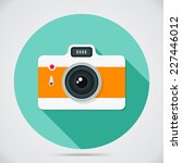 flat style camera with long... | Shutterstock .eps vector #227446012