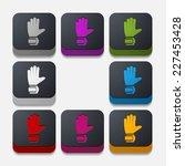 square button  gloves | Shutterstock .eps vector #227453428