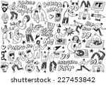 music party   doodles | Shutterstock .eps vector #227453842