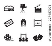 cinema and movie icon set...