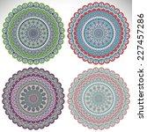 mandala. round ornament pattern....   Shutterstock . vector #227457286