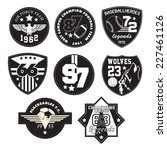 vector patch black and white | Shutterstock .eps vector #227461126