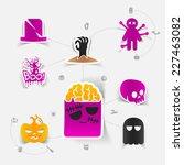 halloween flat infographic | Shutterstock .eps vector #227463082