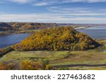 Mississippi River Autumn Scenic