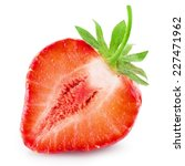 half of strawberry isolated on ... | Shutterstock . vector #227471962