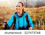 Young Woman Hiking During...