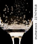 Champagne Glasses Isolated On...