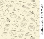 outline assorted collection of... | Shutterstock .eps vector #227476582