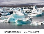Icebergs Floating In The...