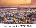 lisbon  portugal skyline at...   Shutterstock . vector #227492806