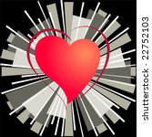 heart of love on a background... | Shutterstock .eps vector #22752103