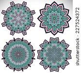 mandala. round ornament pattern.... | Shutterstock . vector #227524372