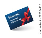 discount card with ribbon | Shutterstock .eps vector #227526118