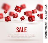 sale poster. vector... | Shutterstock .eps vector #227534365