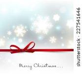 white defocused snowflakes on... | Shutterstock .eps vector #227541646