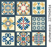 new collection of 9 ceramic... | Shutterstock .eps vector #227543416