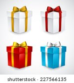 collection of 3d closed gift... | Shutterstock .eps vector #227566135