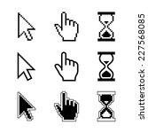 pixel cursors icons   mouse... | Shutterstock .eps vector #227568085