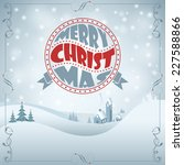 christmas background with retro ... | Shutterstock .eps vector #227588866