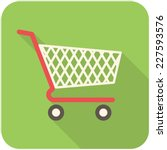 shopping cart icon  flat design ... | Shutterstock .eps vector #227593576