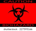 caution bio hazard sign   white ... | Shutterstock .eps vector #227595166