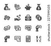 money icon set  vector eps10.   Shutterstock .eps vector #227599105