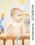 baby boy waving hand and...   Shutterstock . vector #227600296