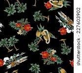 pattern of hibiscus | Shutterstock . vector #227603902