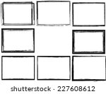 set of grunge black and white... | Shutterstock .eps vector #227608612