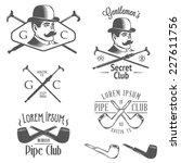 set of vintage gentlemen club...   Shutterstock .eps vector #227611756