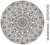 mandala. round ornament pattern.... | Shutterstock . vector #227615152