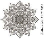 mandala. round ornament pattern.... | Shutterstock . vector #227616016