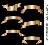 ribbon set  | Shutterstock .eps vector #227621242