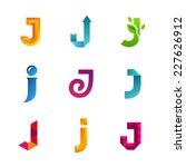 set of letter j logo icons... | Shutterstock .eps vector #227626912