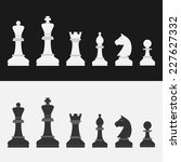 set of flat style chess figures | Shutterstock .eps vector #227627332