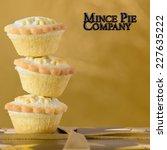 Balancing Christmas Mince Pies...