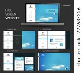 full screen website template...