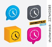 clock sign icon. mechanical...   Shutterstock .eps vector #227643385