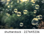 bubbles vintage background. | Shutterstock . vector #227645236