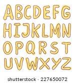 sketch alphabet hand drawn.  | Shutterstock .eps vector #227650072