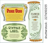 vector vintage flower labels on ... | Shutterstock .eps vector #227650255