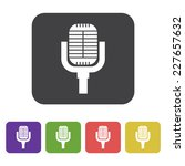 flat designed retro microphone... | Shutterstock .eps vector #227657632