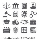 law icons | Shutterstock .eps vector #227660476
