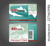 winter discount card template... | Shutterstock .eps vector #227663986