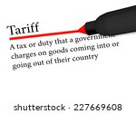 term of tariff underlined in... | Shutterstock .eps vector #227669608