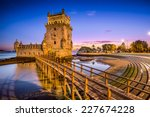 lisbon  portugal at belem tower ... | Shutterstock . vector #227674228